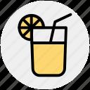 drink, healthy drink, lemonade, orange juice, soft drink, summer drink icon