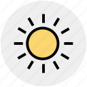 brightness, shining sun, sun, sunny day, sunshine, weather icon