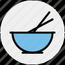 bowl, chopsticks, food bowl, food preparation, mixer, whisk icon