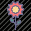 blossom, botany, flower, nature, plant, spring, sunflower icon