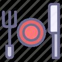 dinning, fork, knives, restaurant, serving, tableware, utensils icon