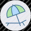 hammock, resort, summertime, sunbathe, sunbed, tanning icon