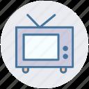 gadget, transmission, tv, tv monitor, tv set, vintage tv icon