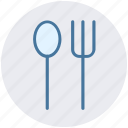 dining, eating, flatware, fork, spoons set, tableware icon