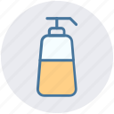 conditioner, foam dispenser, liquid bottle, lotion, shampoo, soap dispenser icon