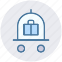 baggage, baggage card, cart, hotel, hotel baggage cart, luggage icon