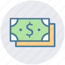 currency, dollar notes, paper money, saving, usd, wealth icon