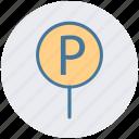 car, car parking, parking, parking sign, road, sing icon
