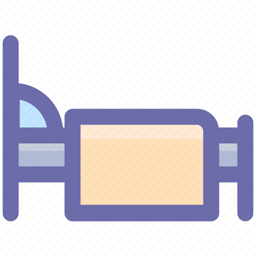 bed, bedroom, furniture, hotel, motel, sleeping bed icon