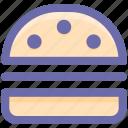burger, cheeseburger, fast food, food, junk food, snack food icon