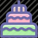bakery food, birthday cake, celebrations, dessert, party, sweet food icon