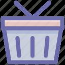bucket, cart, shopping, shopping bucket, shopping cart icon