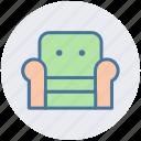 armchair, furniture, recliner, seat sofa, settee, sofa