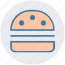 burger, cheeseburger, fast food, food, junk food, snack food icon