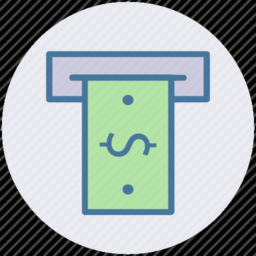 Atm, cash, machine, money, teller, withdrawal icon - Download on Iconfinder