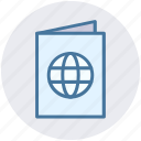 book, document, globe, identification, passport, visa