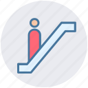 down, escalator, level, lift, staircase, stairs