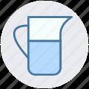 cup scale, jug, jug scale, measuring, measuring jug icon