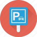 car parking, parking, traffic, signboard, road sign icon