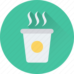 beverage, coffee, drink, hot tea, take away icon