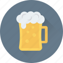 chilled beer, beer, ale, beer mug, drink icon
