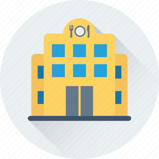 building, cafe, food, hotel, restaurant icon