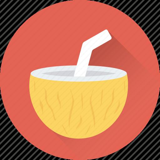 beach drink, beverage, coconut, coconut water, drink icon