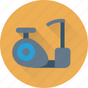 exercycle, ergometer, fitness, exercise, stationary bicycle icon