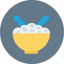 bowl, spoon, rice, noodles, meal icon