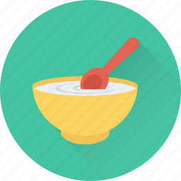 bowl, meal, noodles, rice, spoon icon