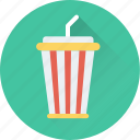 disposable cup, juice cup, soft drink, straw, smoothie icon