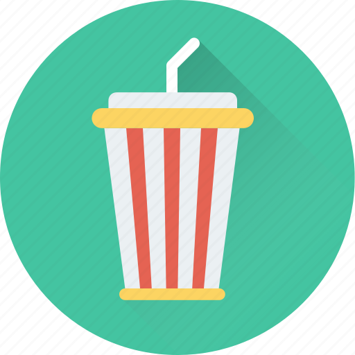 disposable cup, juice cup, smoothie, soft drink, straw icon