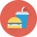 food, burger, drink, junk food, fast food icon