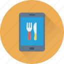 mobile, app, online food, food app, hotel app icon