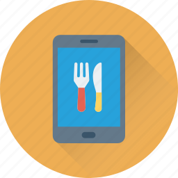 app, food app, hotel app, mobile, online food icon