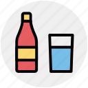 alcohol, beer bottle, bottle, drink, wine, wine bottle icon