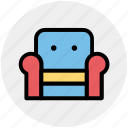 armchair, furniture, recliner, seat sofa, settee, sofa icon