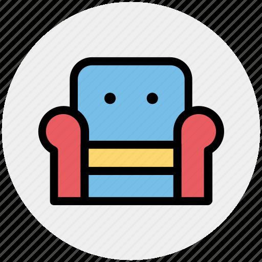 armchair, furniture, recliner, seat sofa, settee, sofa icon