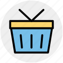 bucket, cart, shopping, shopping bucket, shopping cart icon