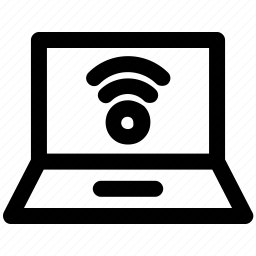 connection, data, internet, laptop, network, wifi icon
