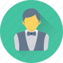 hotel, restaurant, services, waiter, waiting staff icon