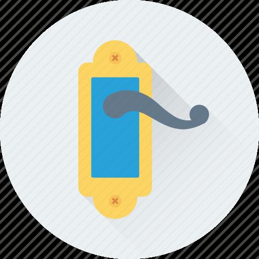 door, door handle, door lock, doorknob, lock icon
