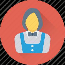 attendant, hotel, waiting staff, waitperson, waitress icon