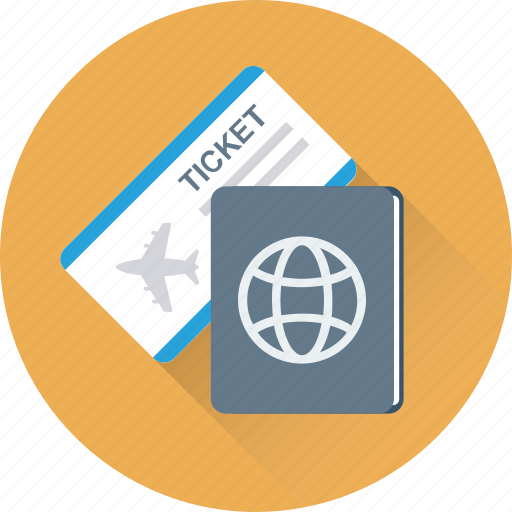 Ticket, visa, travel, passport, permit icon