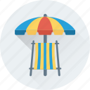 umbrella, beach, tanning, deck chair, sunbathe
