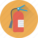 cylinder, extinguisher, fire extinguisher, flame, safety icon