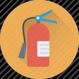 cylinder, extinguisher, fire extinguisher, flame, safety icon