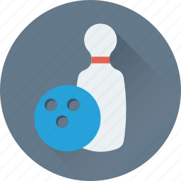 alley ball, bowling, game, sports, ten pins icon