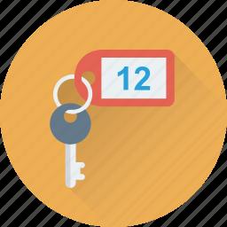 access, hotel, key, keychain, security icon