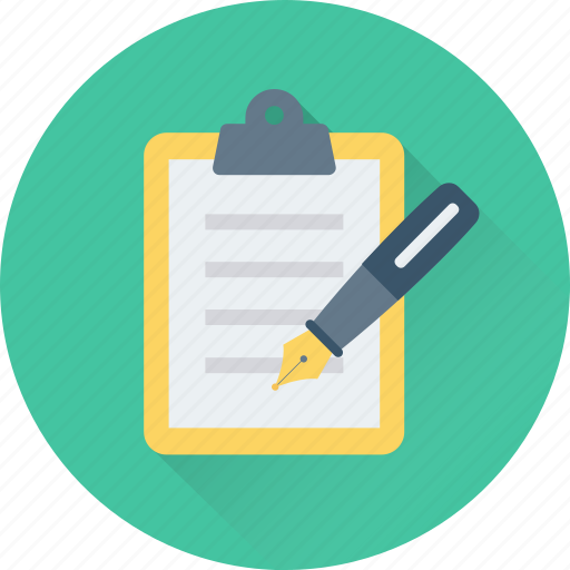 Clipboard, notes, pen, signature, writing icon - Download on Iconfinder